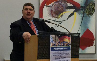 70 Jahre Frieden – Bernd Posselt zu Besuch bei der Interkulturellen Woche Germering