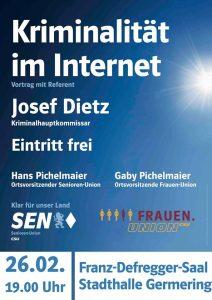 Kriminalität im Internet @ Stadthalle Germering (Fran-Defregger-Saal) | Germering | Bayern | Deutschland