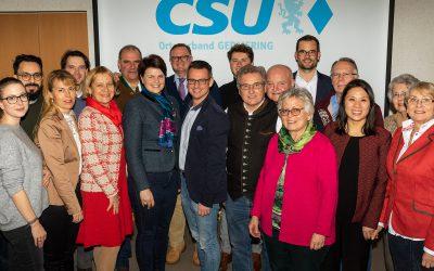 Mit 100% im Amt bestätigt – Oliver Simon führt weiterhin die CSU Germering