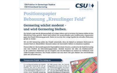 "Positionspapier zur Bebauung am ""KreuzlingerFeld"""
