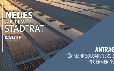 Antrag für mehr Solarenergie in Germering